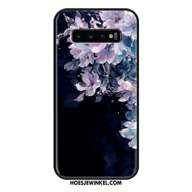 Samsung Galaxy S10 Hoesje Ster Mode Anti-fall, Samsung Galaxy S10 Hoesje Mobiele Telefoon Zwart