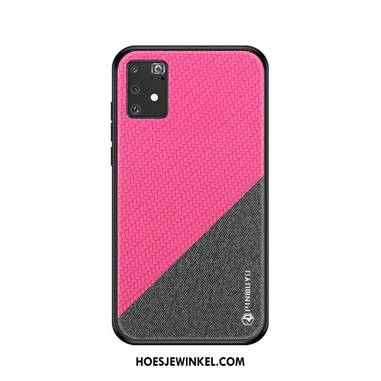 Samsung Galaxy S10 Lite Hoesje Ster All Inclusive Canvas, Samsung Galaxy S10 Lite Hoesje Schrobben Anti-fall