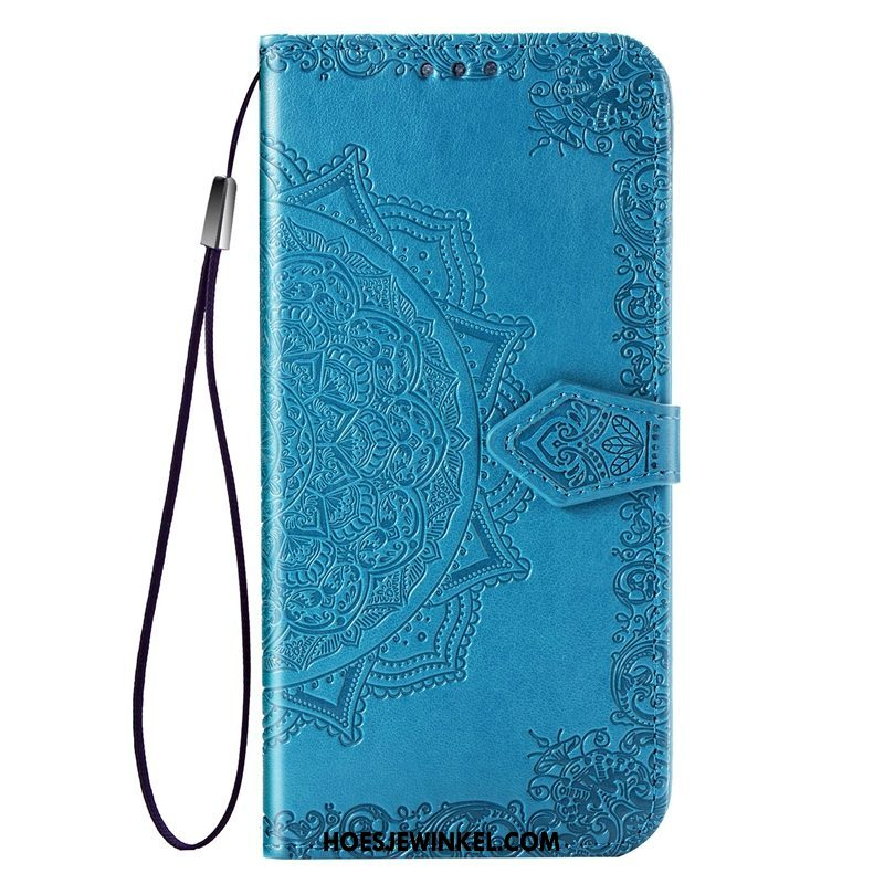Samsung Galaxy S10e Hoesje Hoes Kaart All Inclusive, Samsung Galaxy S10e Hoesje Blauw Anti-fall