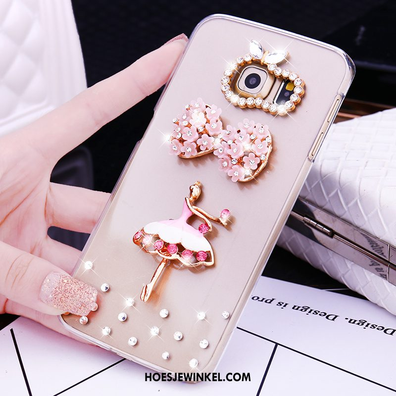 Samsung Galaxy S6 Edge Hoesje Hoes Met Strass Ster, Samsung Galaxy S6 Edge Hoesje Plastic Hard