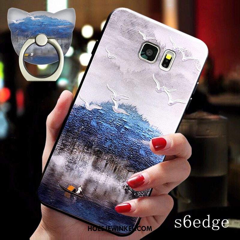 Samsung Galaxy S6 Edge Hoesje Siliconen Ster Mobiele Telefoon, Samsung Galaxy S6 Edge Hoesje Anti-fall Hoes