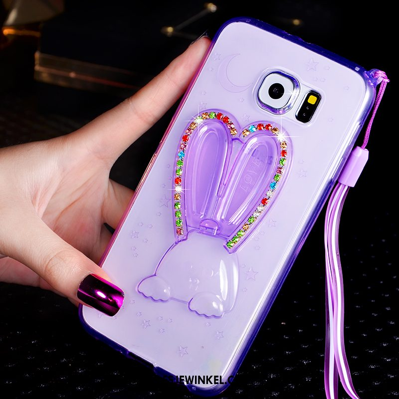 Samsung Galaxy S6 Hoesje Ster Hoes Mobiele Telefoon, Samsung Galaxy S6 Hoesje Met Strass Bescherming