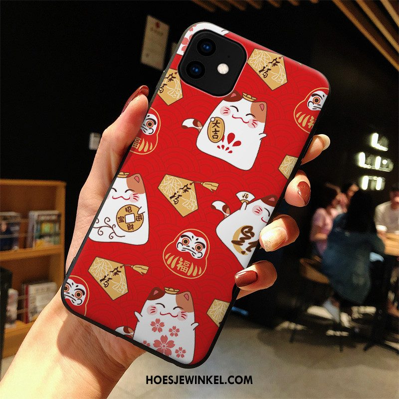 iPhone 11 Hoesje Rood Siliconen Mooie, iPhone 11 Hoesje Spotprent All Inclusive