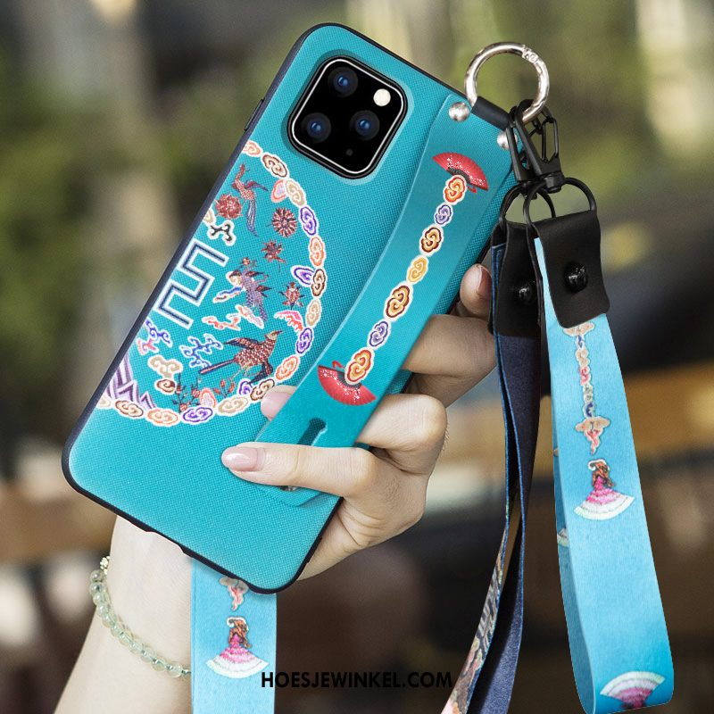 iPhone 11 Pro Hoesje Chinese Stijl All Inclusive Anti-fall, iPhone 11 Pro Hoesje Trend Blauw
