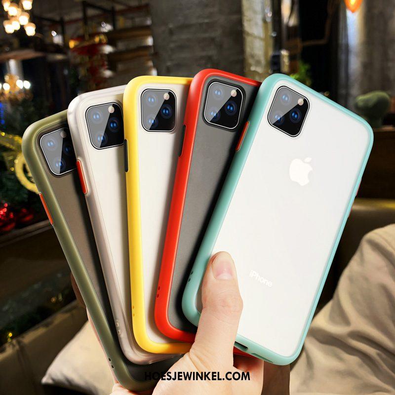 iPhone 11 Pro Max Hoesje Zacht Doorzichtig Net Red, iPhone 11 Pro Max Hoesje Mobiele Telefoon Schrobben