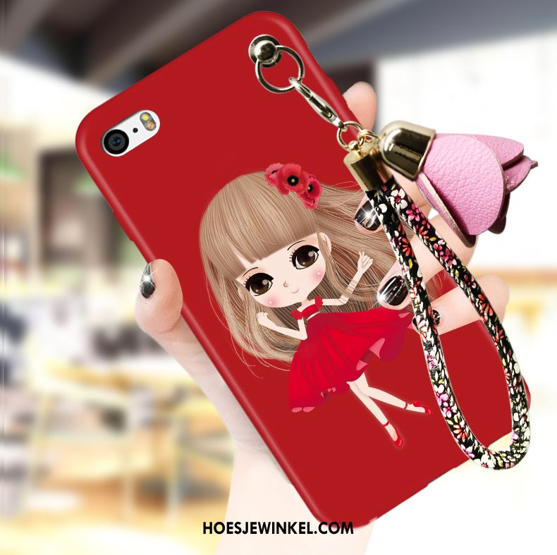 iPhone 5 / 5s Hoesje Rood All Inclusive Trend, iPhone 5 / 5s Hoesje Hoes Mobiele Telefoon