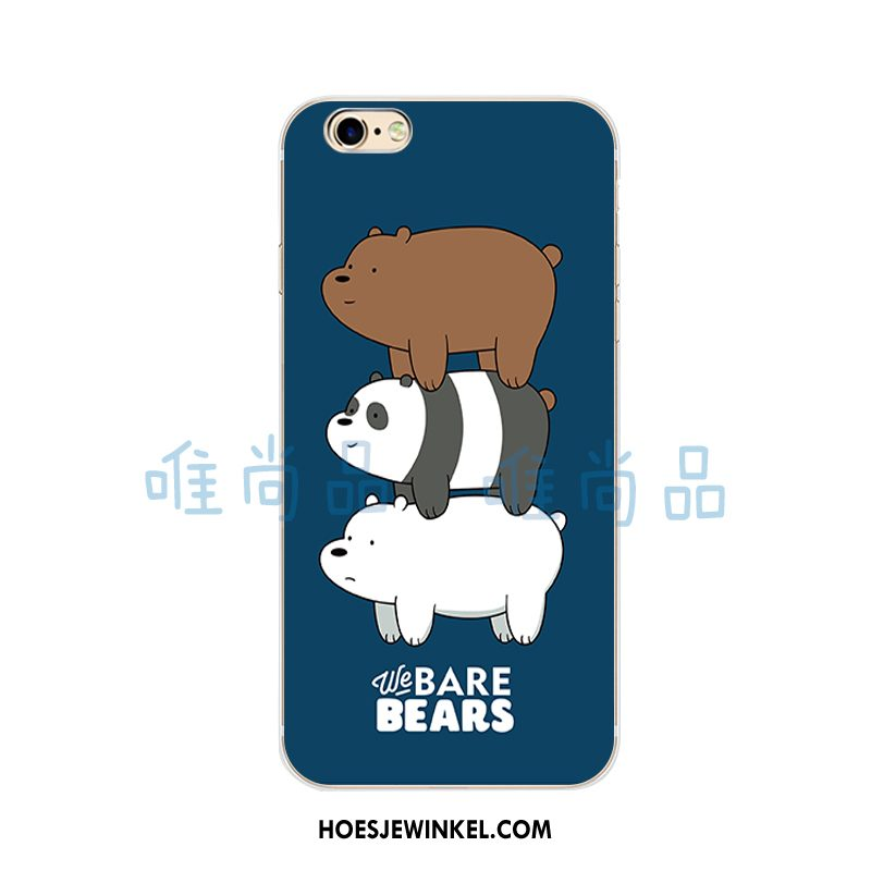 iPhone 5c Hoesje Europa Blauw Beren, iPhone 5c Hoesje Mobiele Telefoon Zacht Nackte Farbe