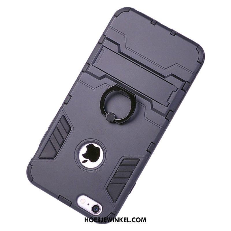 iPhone 6 / 6s Plus Hoesje Gesp Hard Scheppend, iPhone 6 / 6s Plus Hoesje Bescherming Zwart