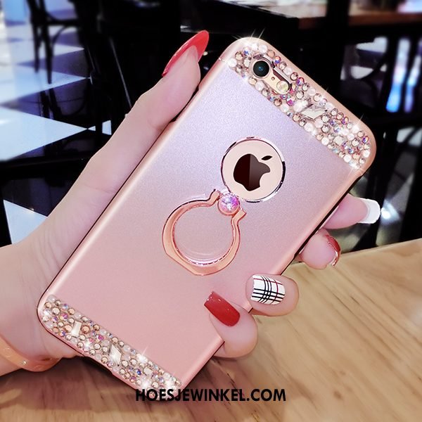 iPhone 6 / 6s Plus Hoesje Rose Goud Met Strass Persoonlijk, iPhone 6 / 6s Plus Hoesje Mobiele Telefoon Anti-fall