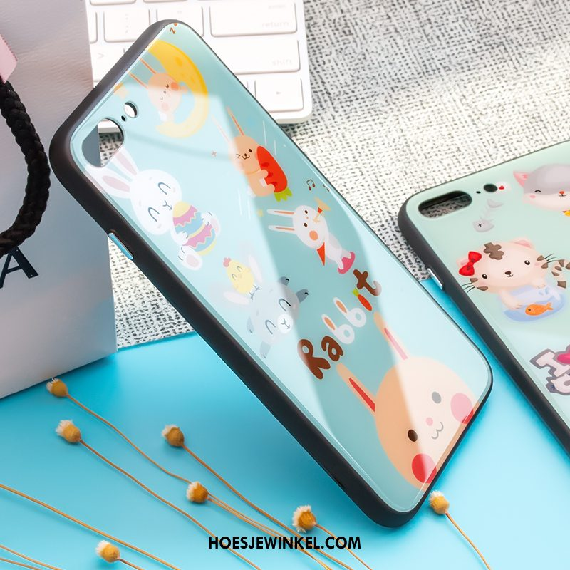 iPhone 8 Hoesje Anti-fall Glas Spotprent, iPhone 8 Hoesje Trendy Merk Hoes