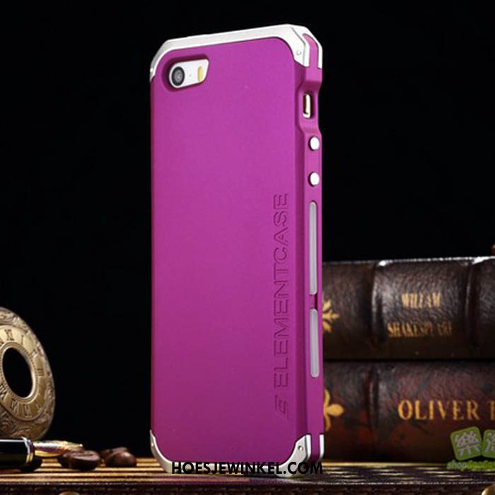 iPhone Se Hoesje Metaal Mode Purper, iPhone Se Hoesje High End Mobiele Telefoon