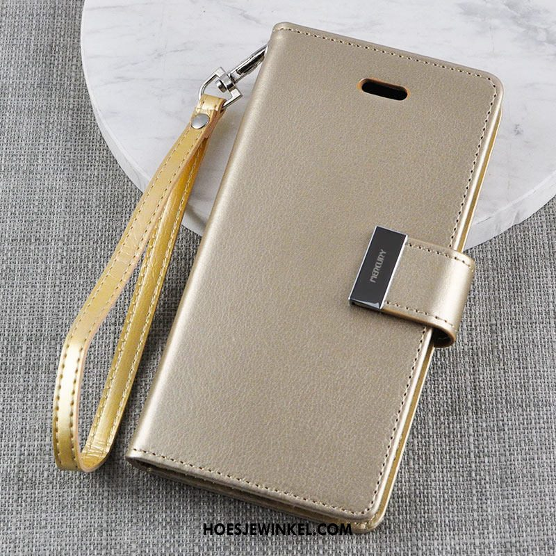 iPhone Xs Hoesje Folio Siliconen Anti-fall, iPhone Xs Hoesje Goud All Inclusive Braun