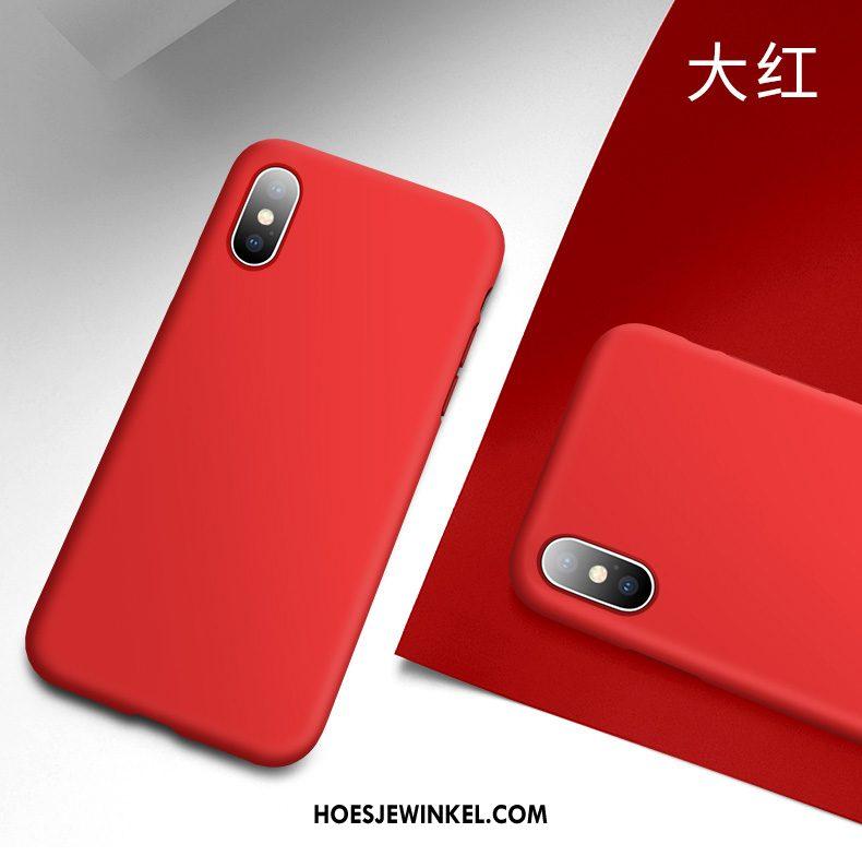 iPhone Xs Hoesje Schrobben Mobiele Telefoon Nieuw, iPhone Xs Hoesje Siliconen Zwart
