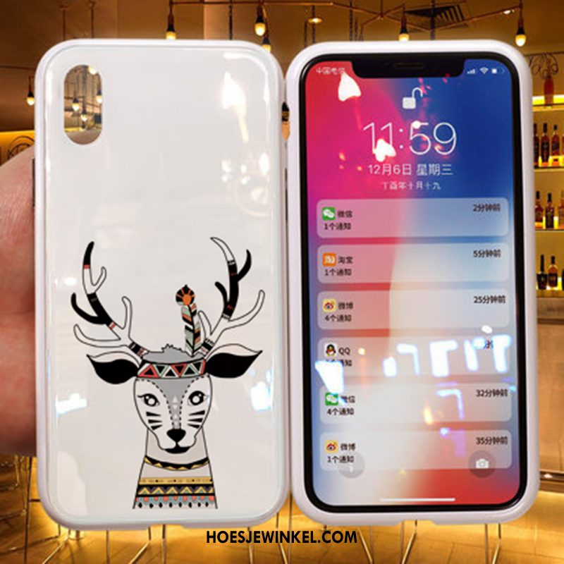 iPhone Xs Hoesje Wit Lovers Trendy Merk, iPhone Xs Hoesje Net Red Nieuw