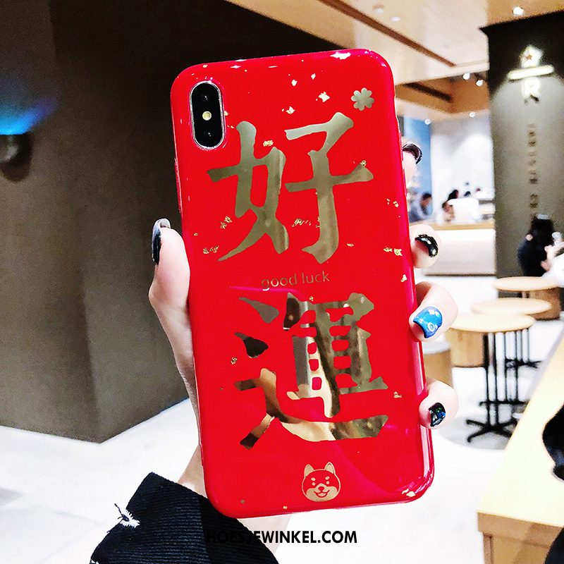 iPhone Xs Max Hoesje Nieuw Siliconen All Inclusive, iPhone Xs Max Hoesje Hoes Rood