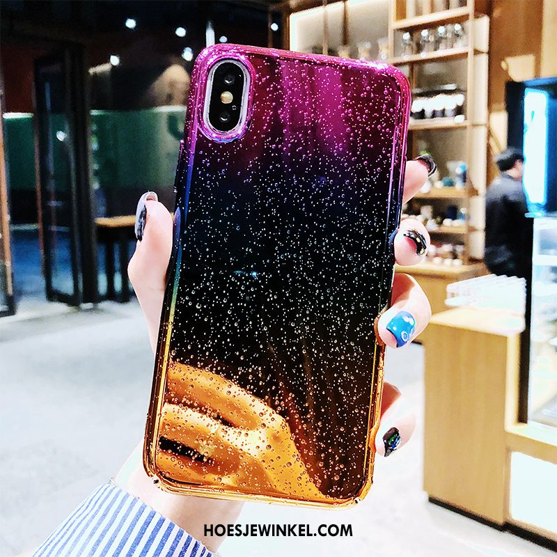 iPhone Xs Max Hoesje Plating Anti-fall Trendy Merk, iPhone Xs Max Hoesje Persoonlijk All Inclusive